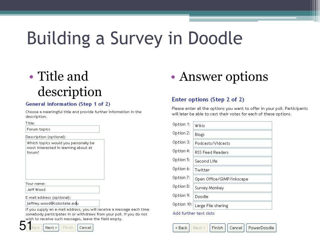 Building a Survey in Doodle