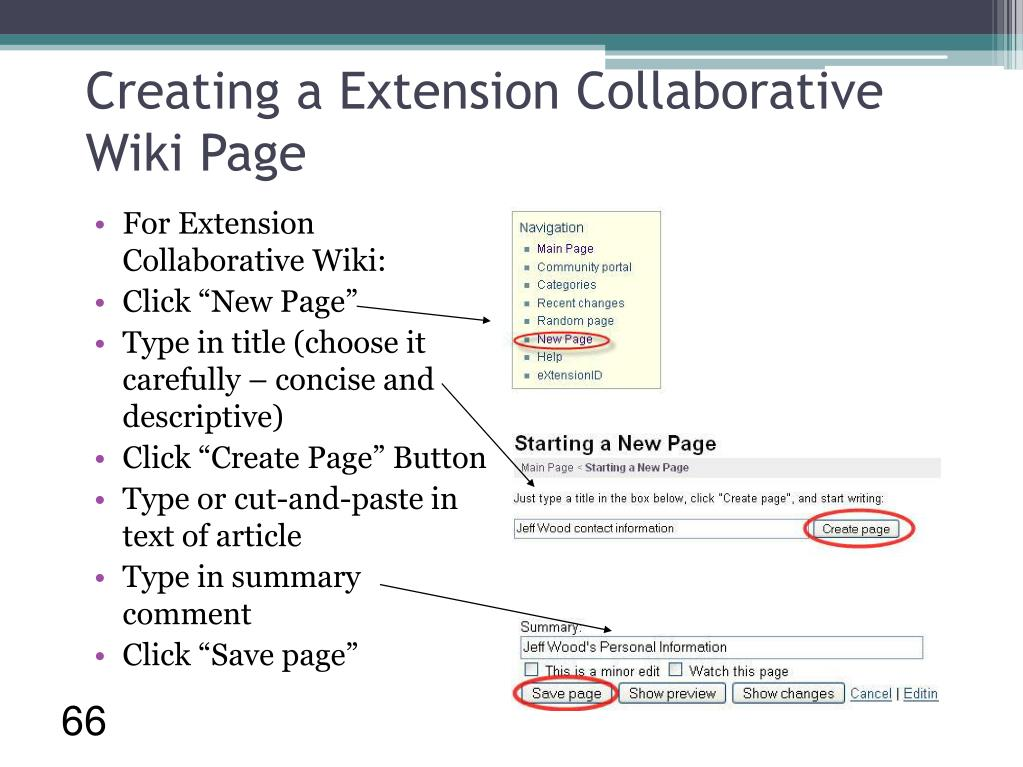 Creating a Extension Collaborative Wiki Page