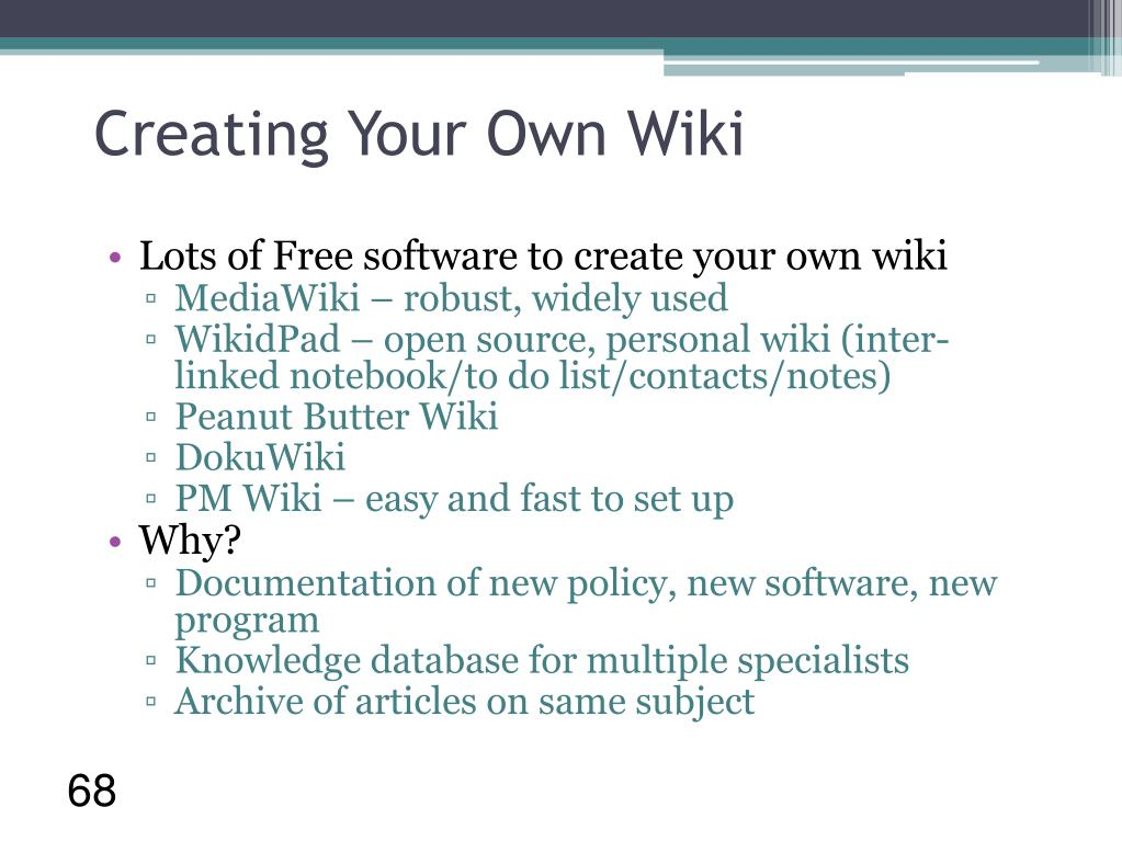 Creating Your Own Wiki