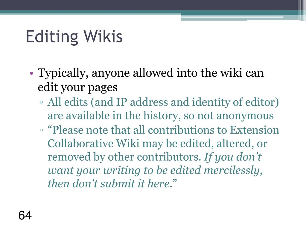Editing Wikis