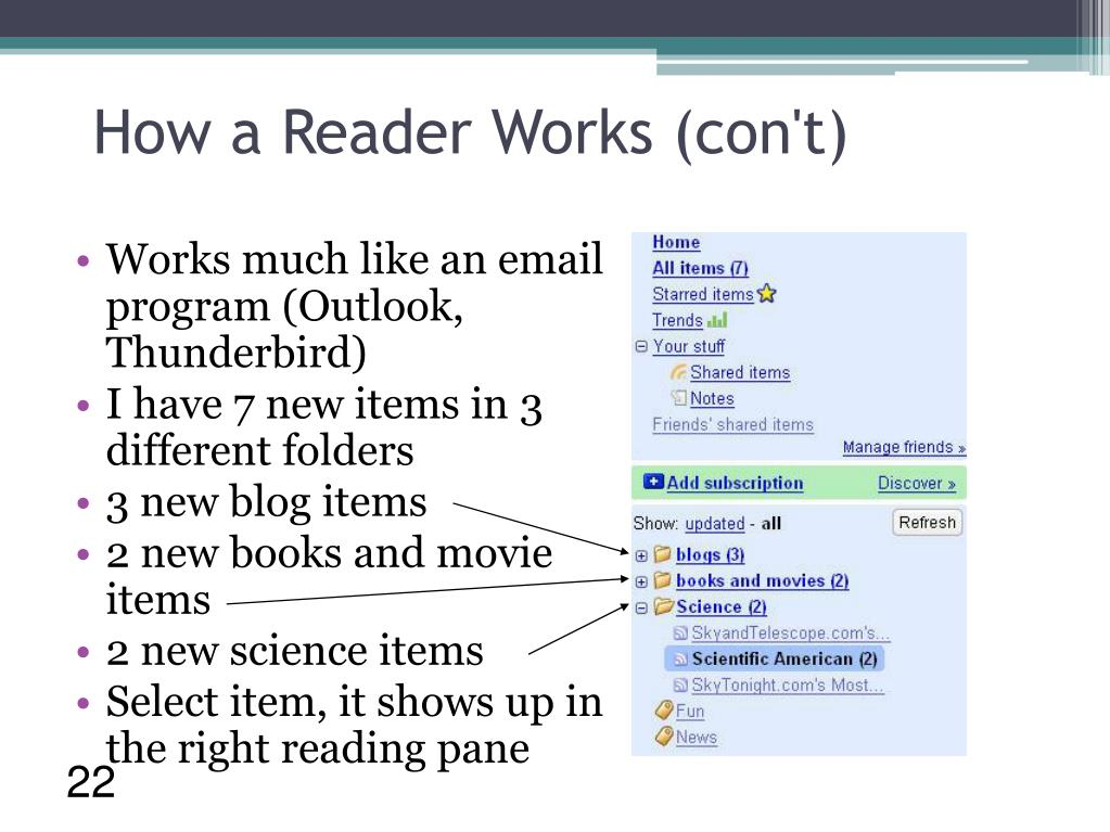 How a Reader Works (con't)