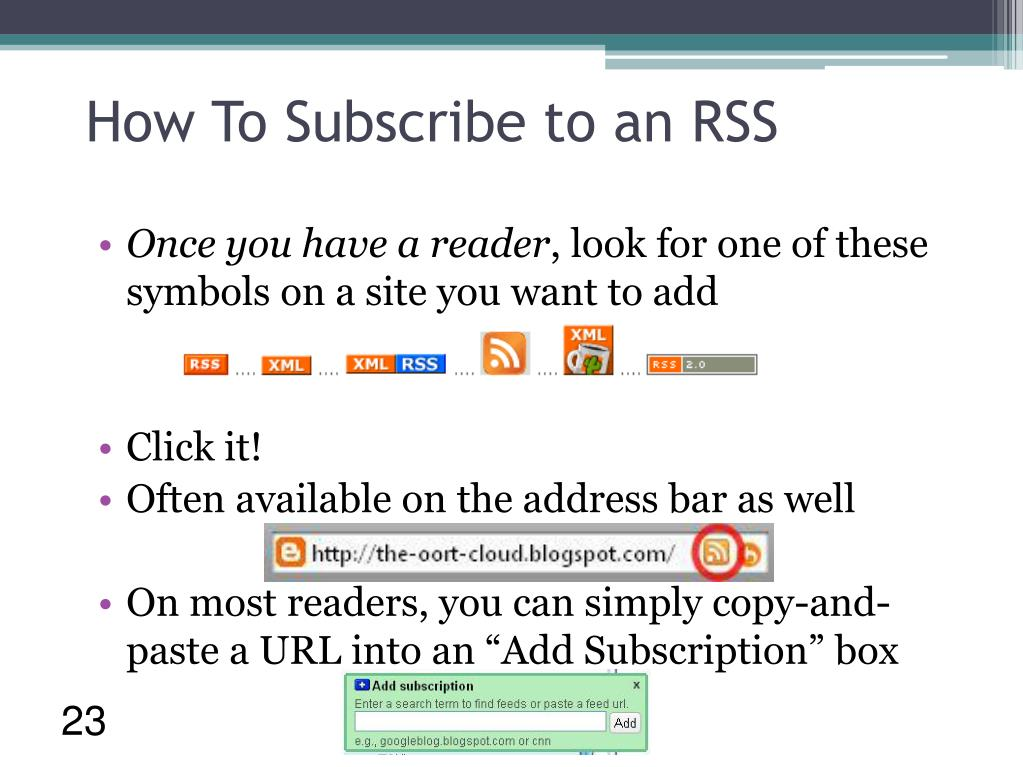 How To Subscribe to an RSS