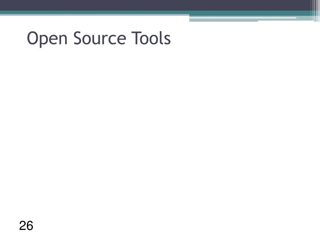 Open Source Tools