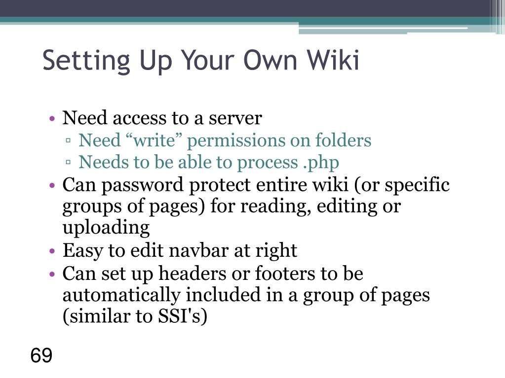 Setting Up Your Own Wiki
