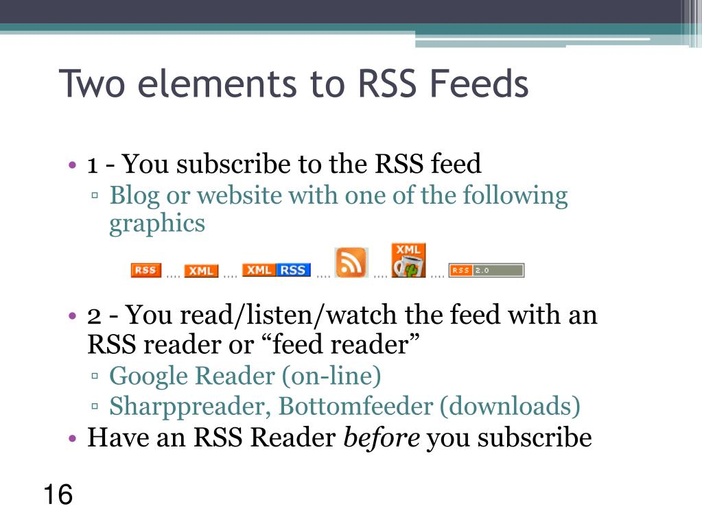 Two elements to RSS Feeds