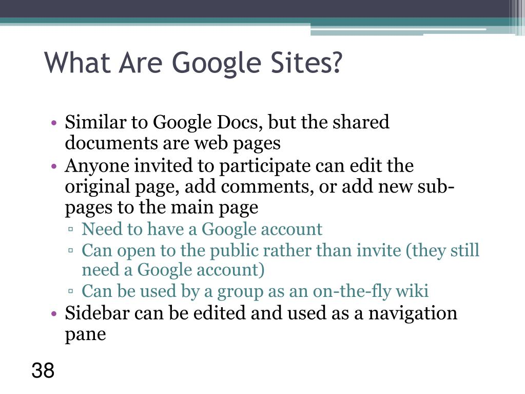 What Are Google Sites?