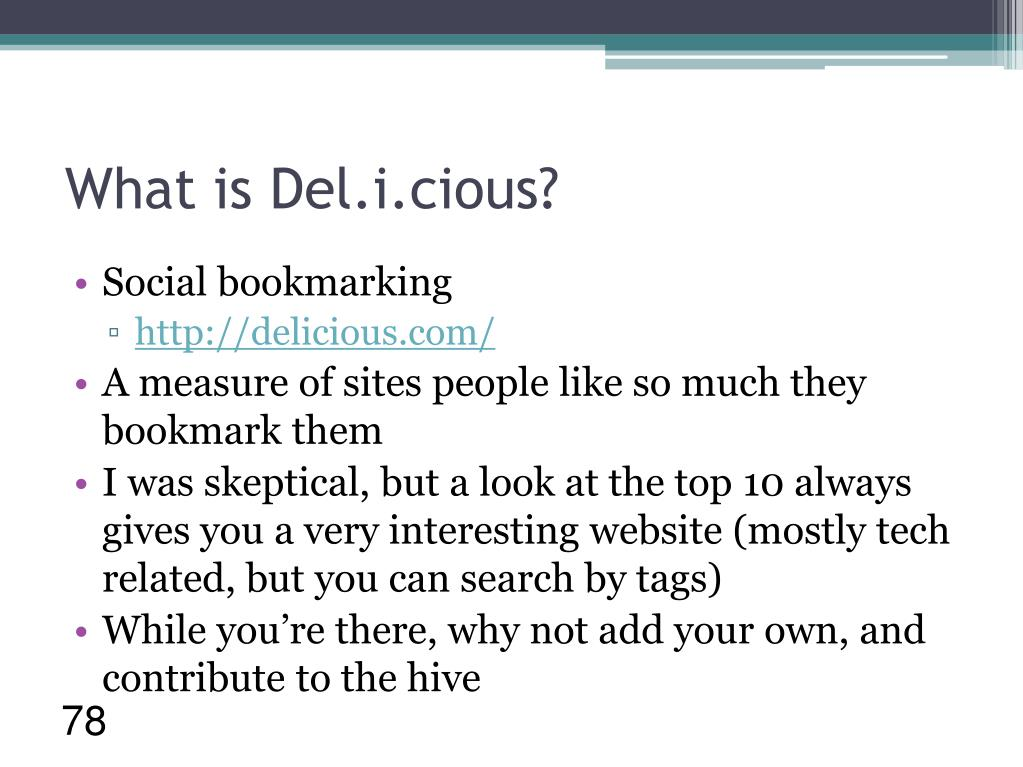 What is Del.i.cious?