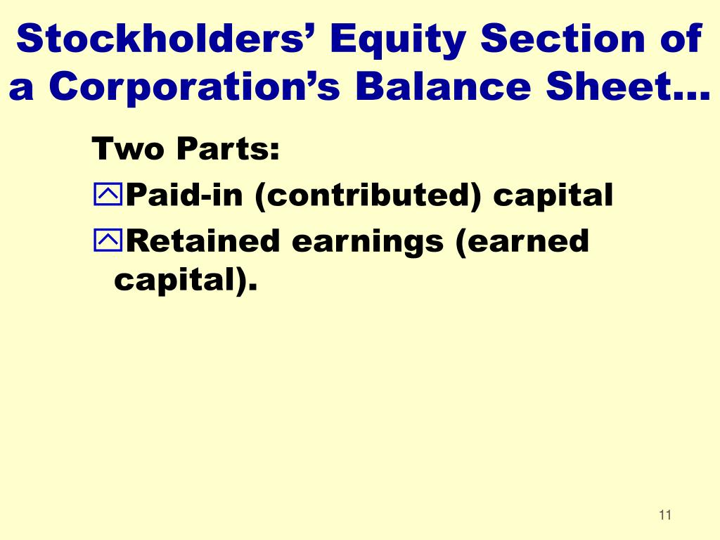 stockholders equity portion essay Essay new financial and statistical measures to monitor the  some portion of its outstanding  reduces the stockholders' equity over the assets of the.
