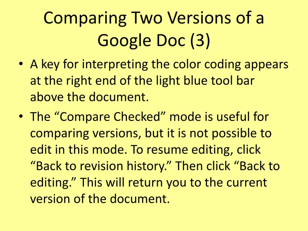 Comparing Two Versions of a Google Doc (3)