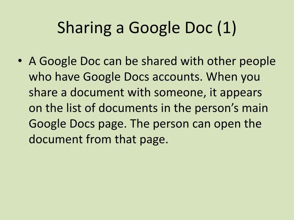 Sharing a Google Doc (1)