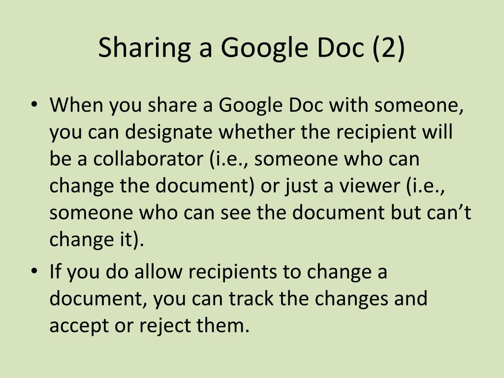 Sharing a Google Doc (2)