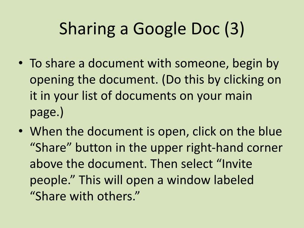 Sharing a Google Doc (3)
