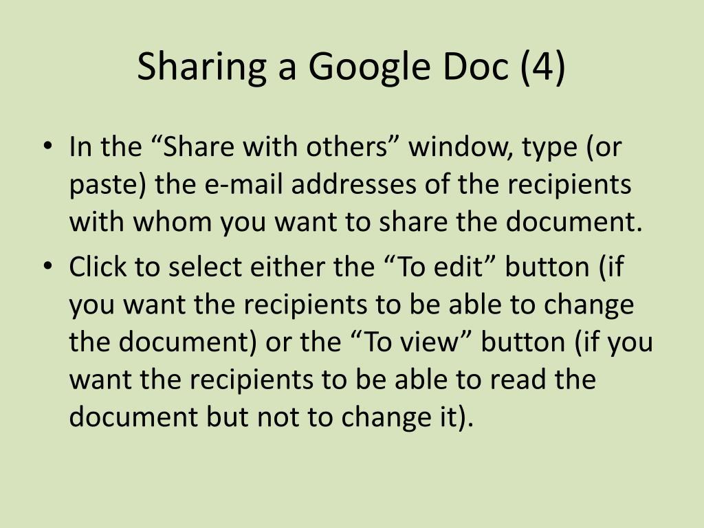 Sharing a Google Doc (4)