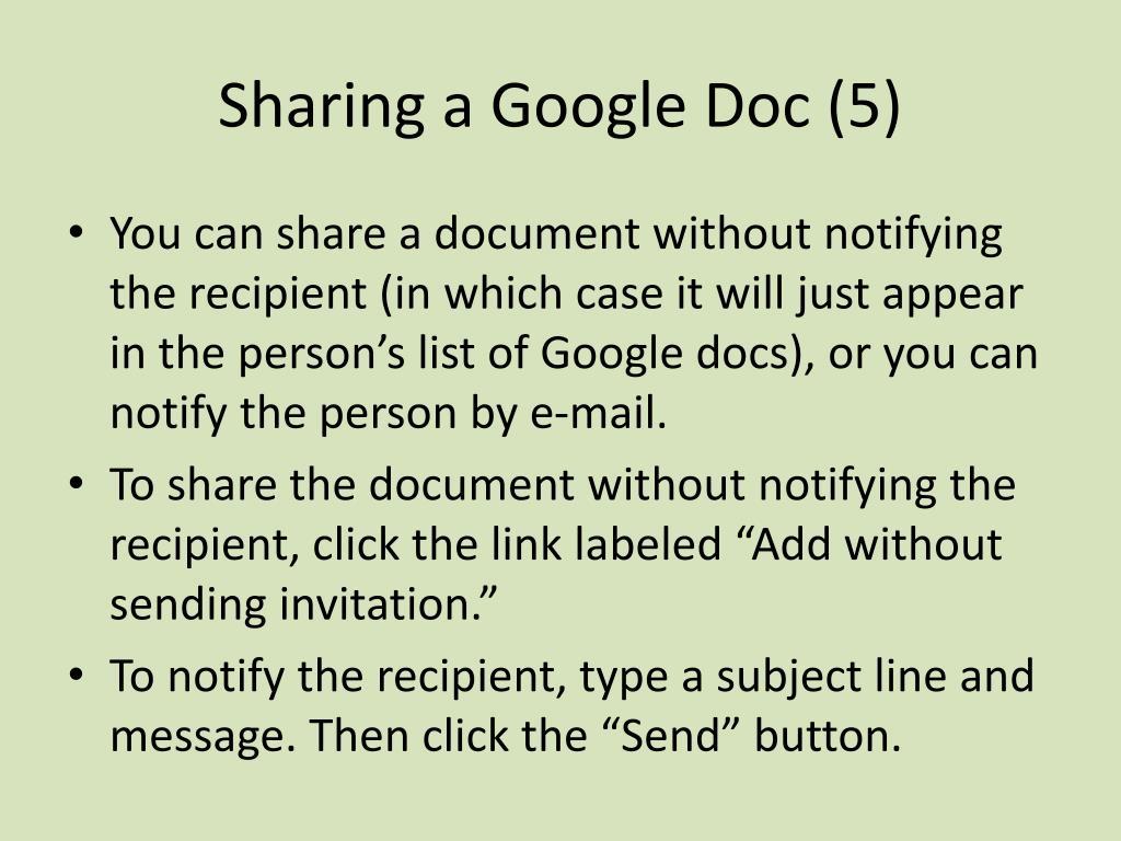 Sharing a Google Doc (5)