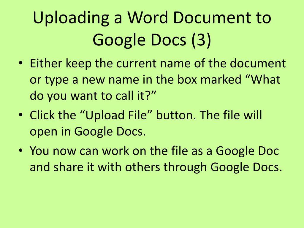 Uploading a Word Document to Google Docs (3)