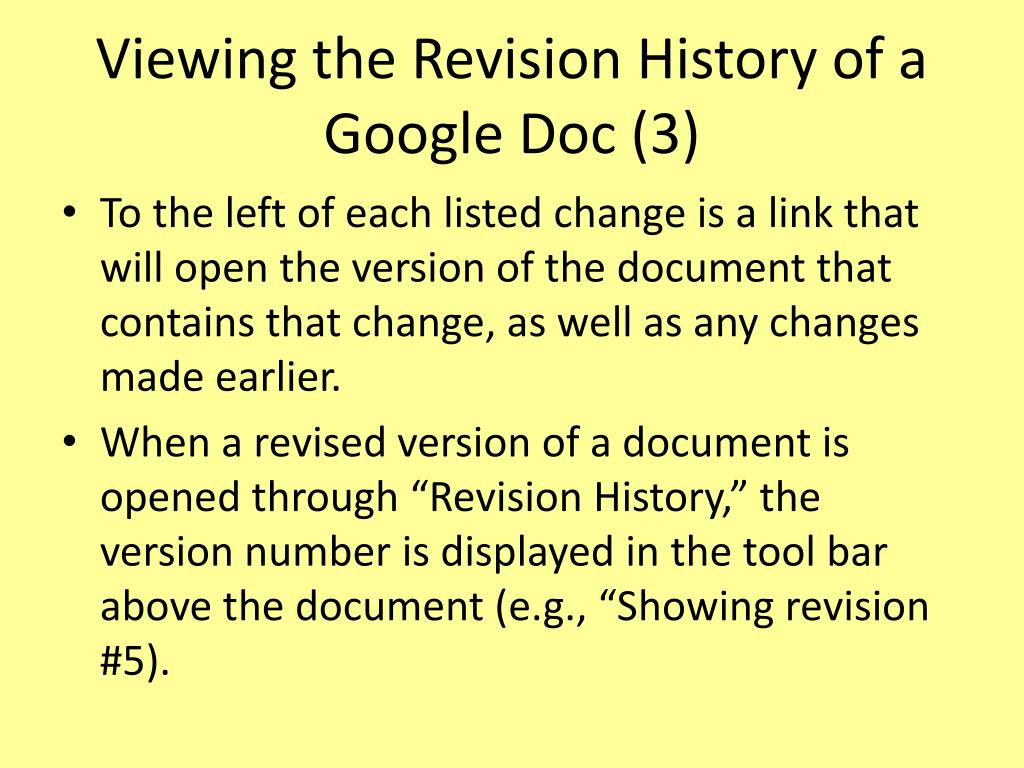 Viewing the Revision History of a Google Doc (3)