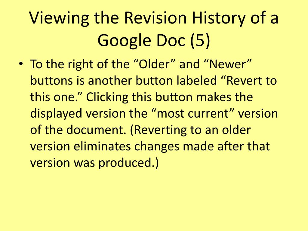 Viewing the Revision History of a Google Doc (5)