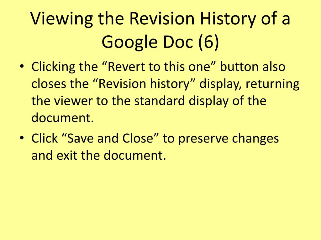 Viewing the Revision History of a Google Doc (6)