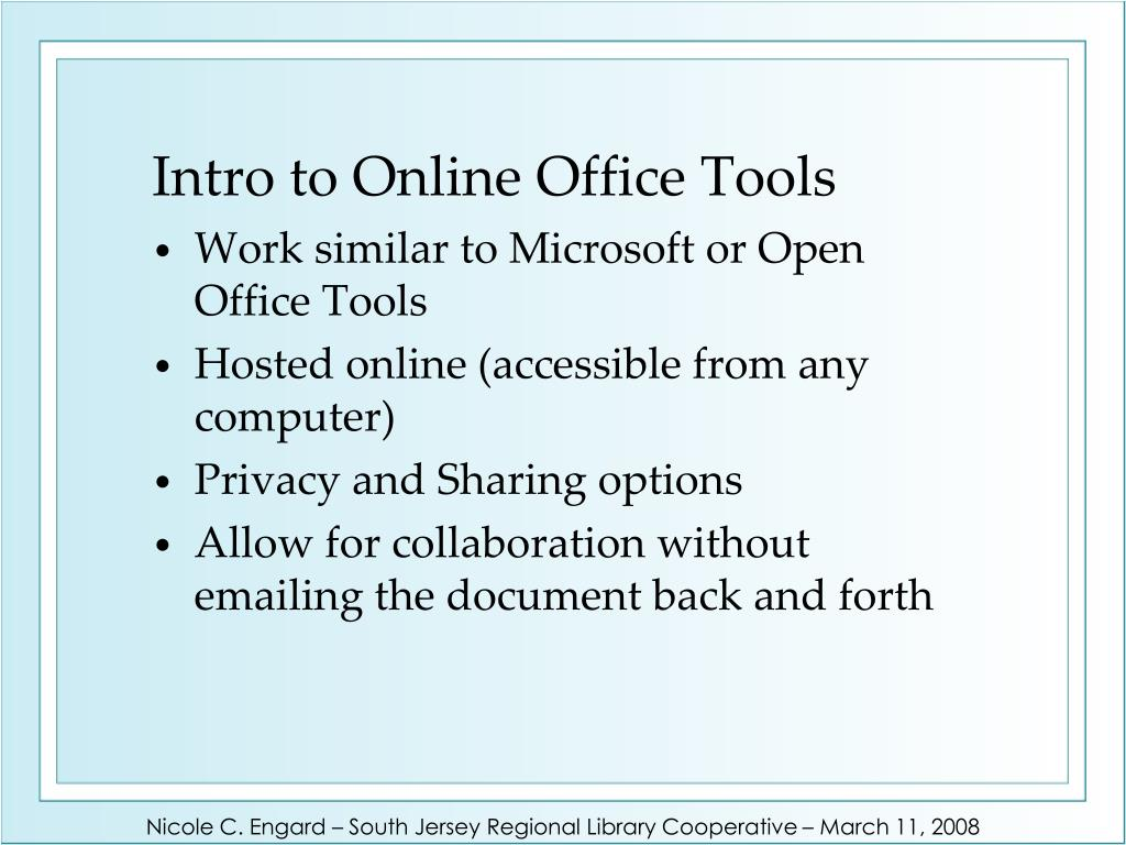 Intro to Online Office Tools