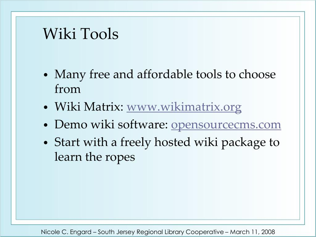 Wiki Tools