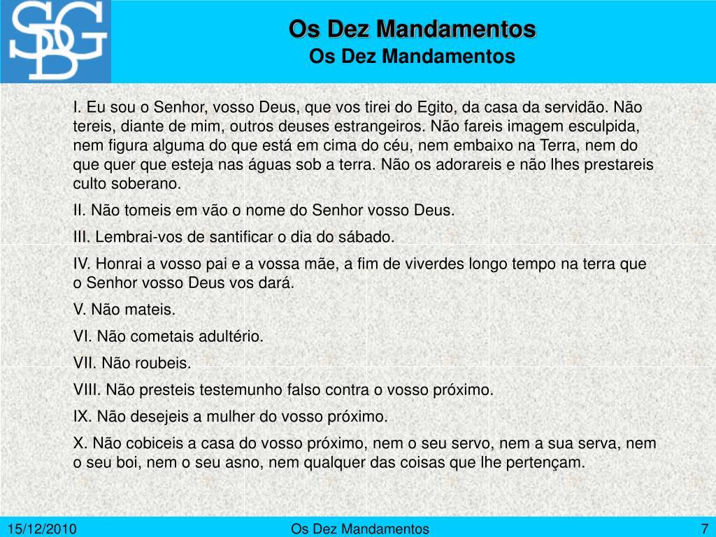 Os Dez Mandamentos
