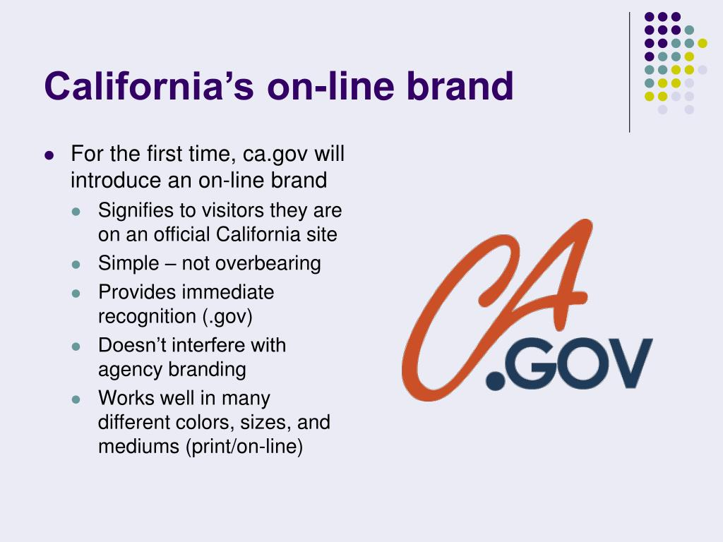 California's on-line brand