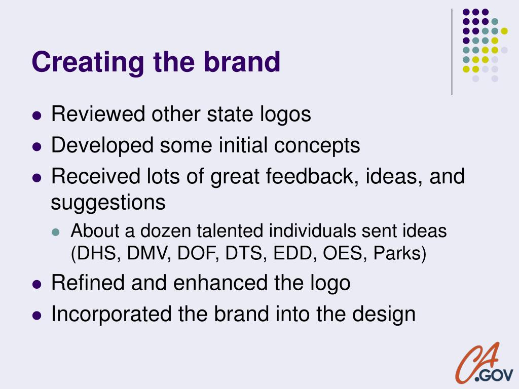 Creating the brand