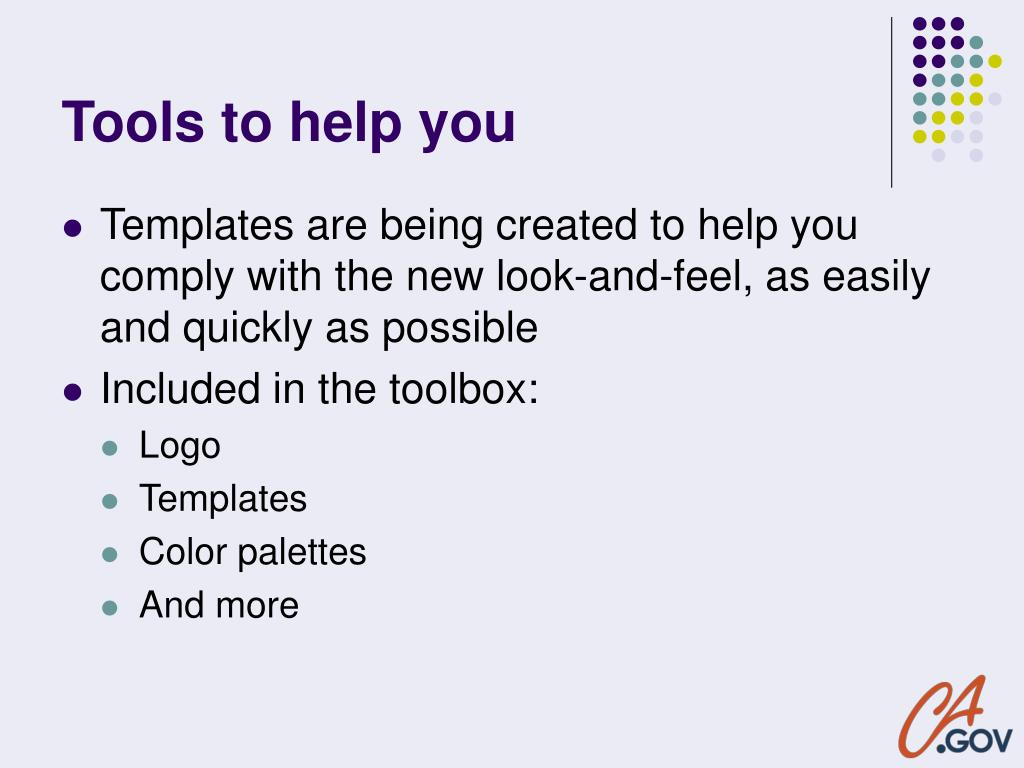Tools to help you