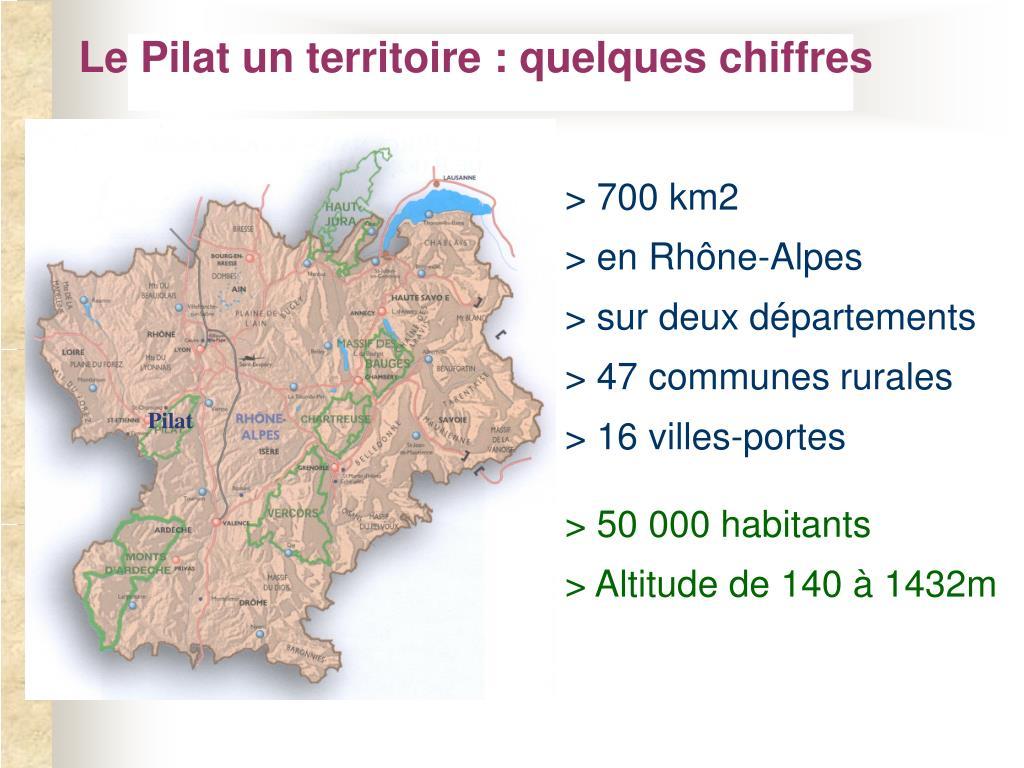 Le Pilat un territoire : quelques chiffres
