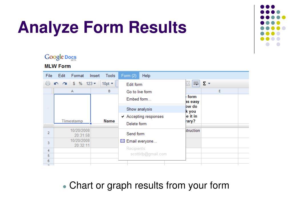 Analyze Form Results
