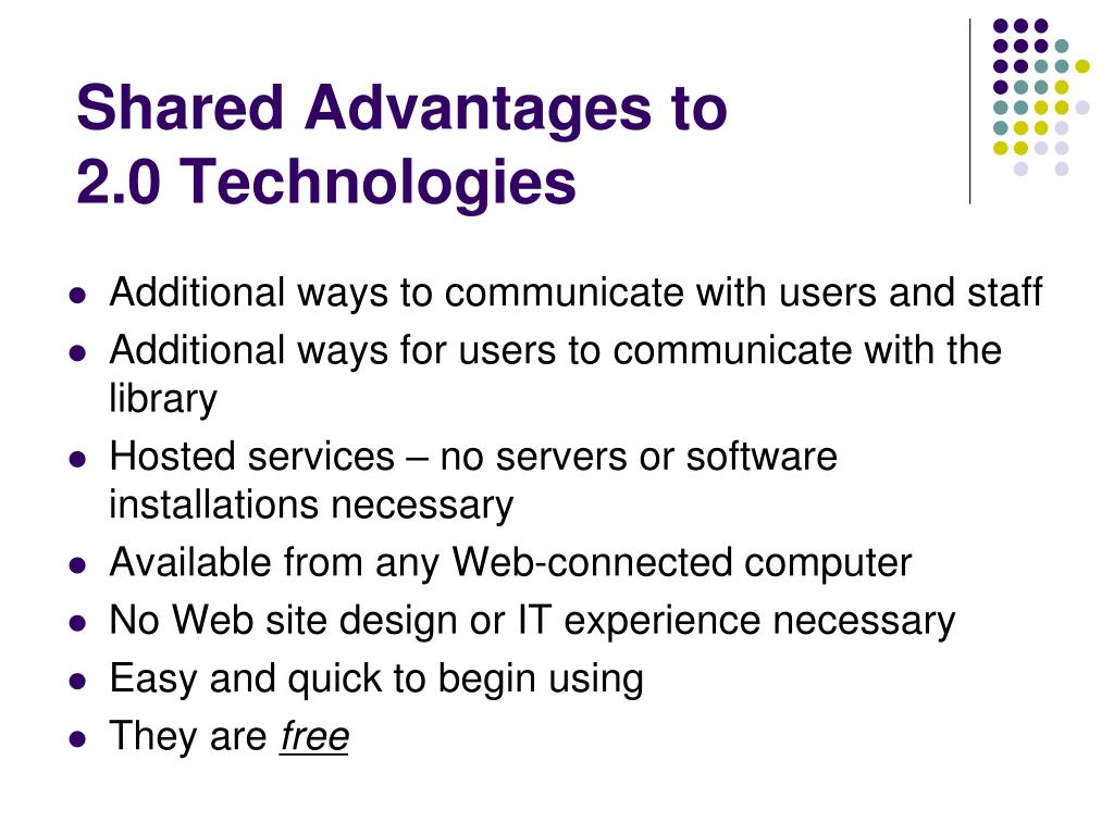 Shared Advantages to