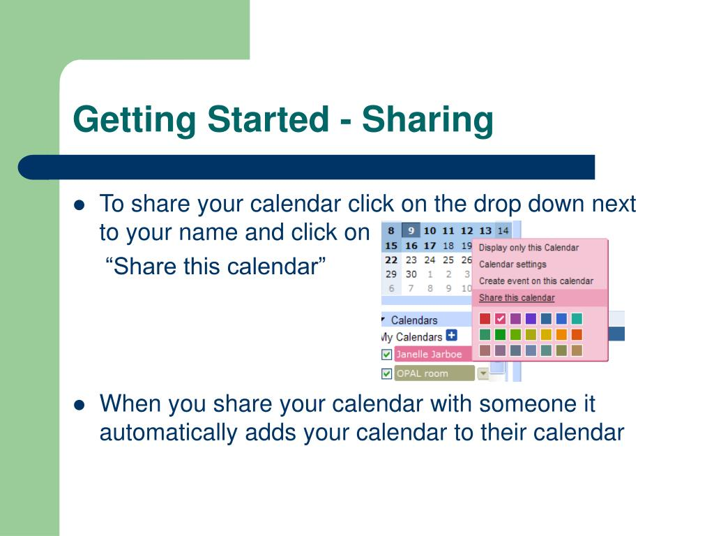 Getting Started - Sharing