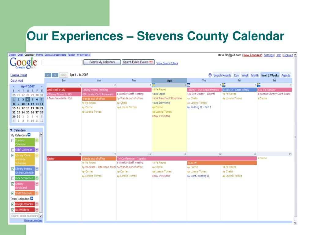 Our Experiences – Stevens County Calendar