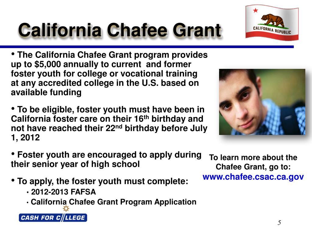 California Chafee Grant