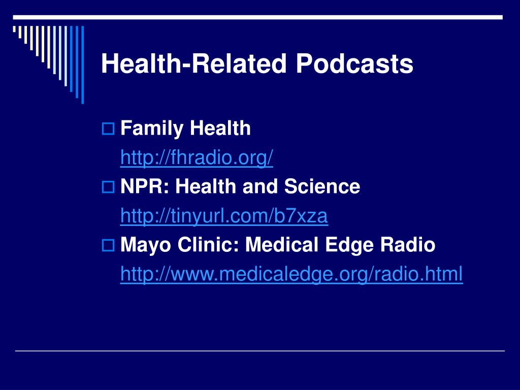 Health-Related Podcasts