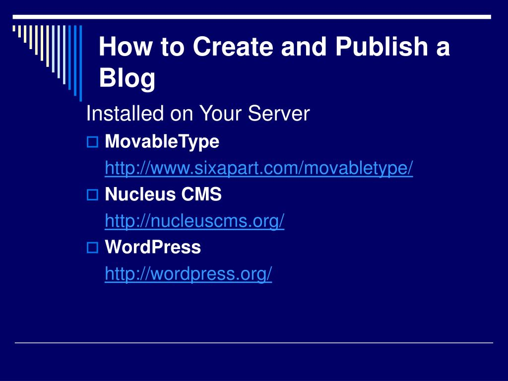 How to Create and Publish a Blog