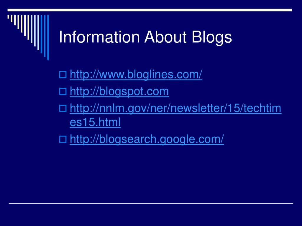 Information About Blogs