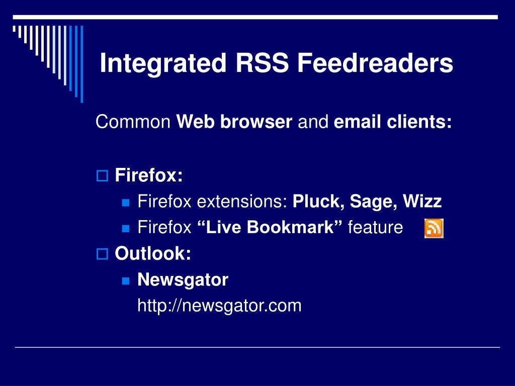 Integrated RSS Feedreaders