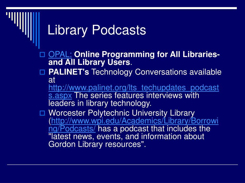 Library Podcasts
