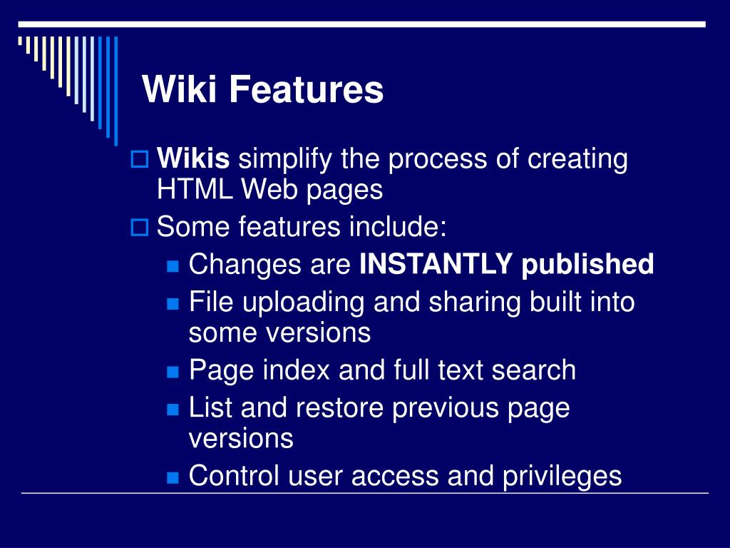 Wiki Features