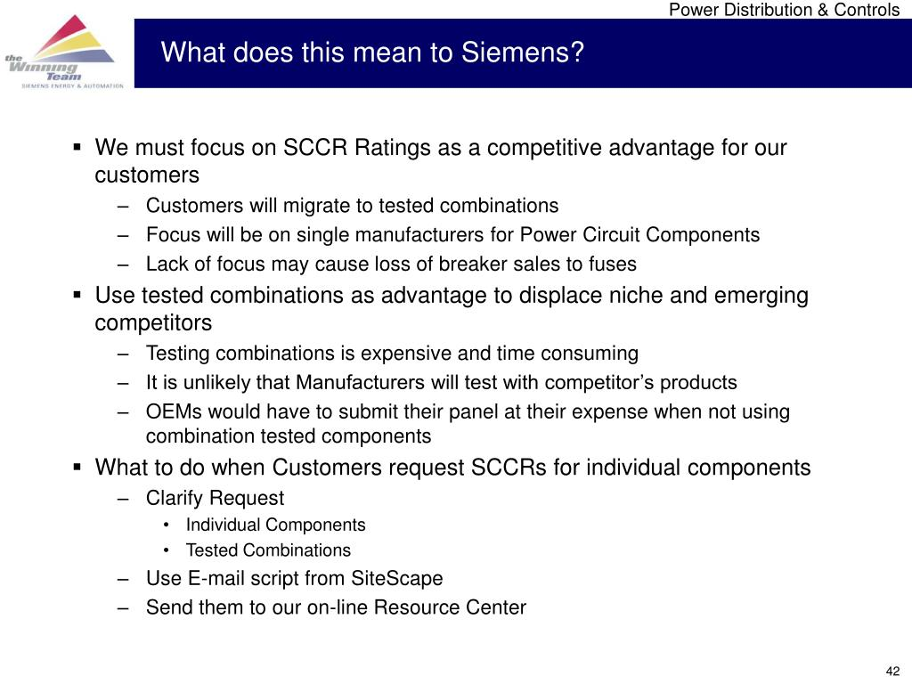 What does this mean to Siemens?