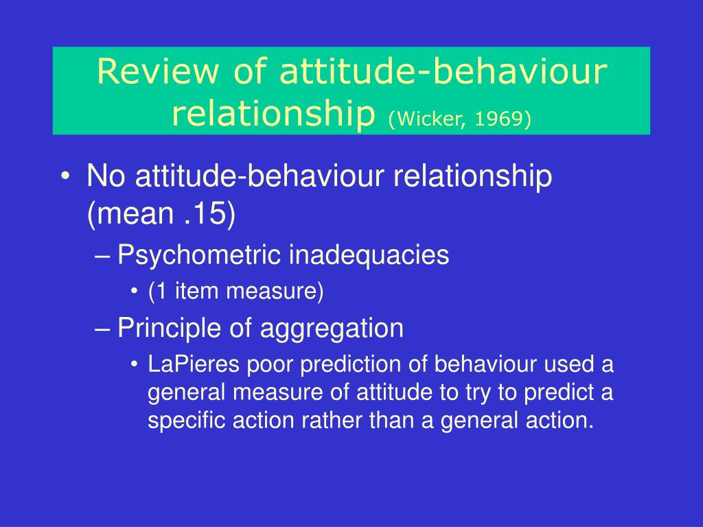 The relationship between attitude and behavior: an ...