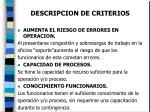 descripcion de criterios17