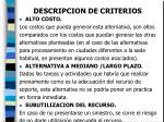 descripcion de criterios20