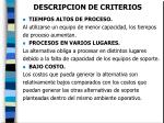 descripcion de criterios22