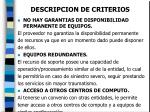 descripcion de criterios23