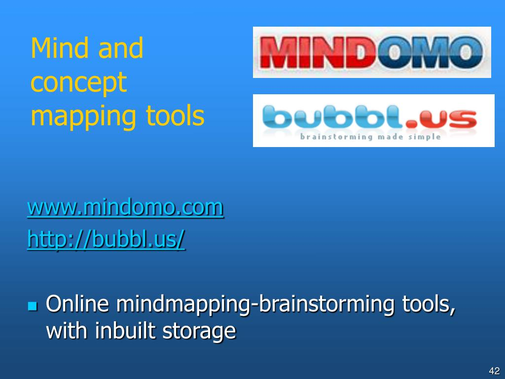 Mind and concept mapping tools