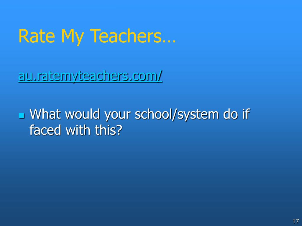 Rate My Teachers…