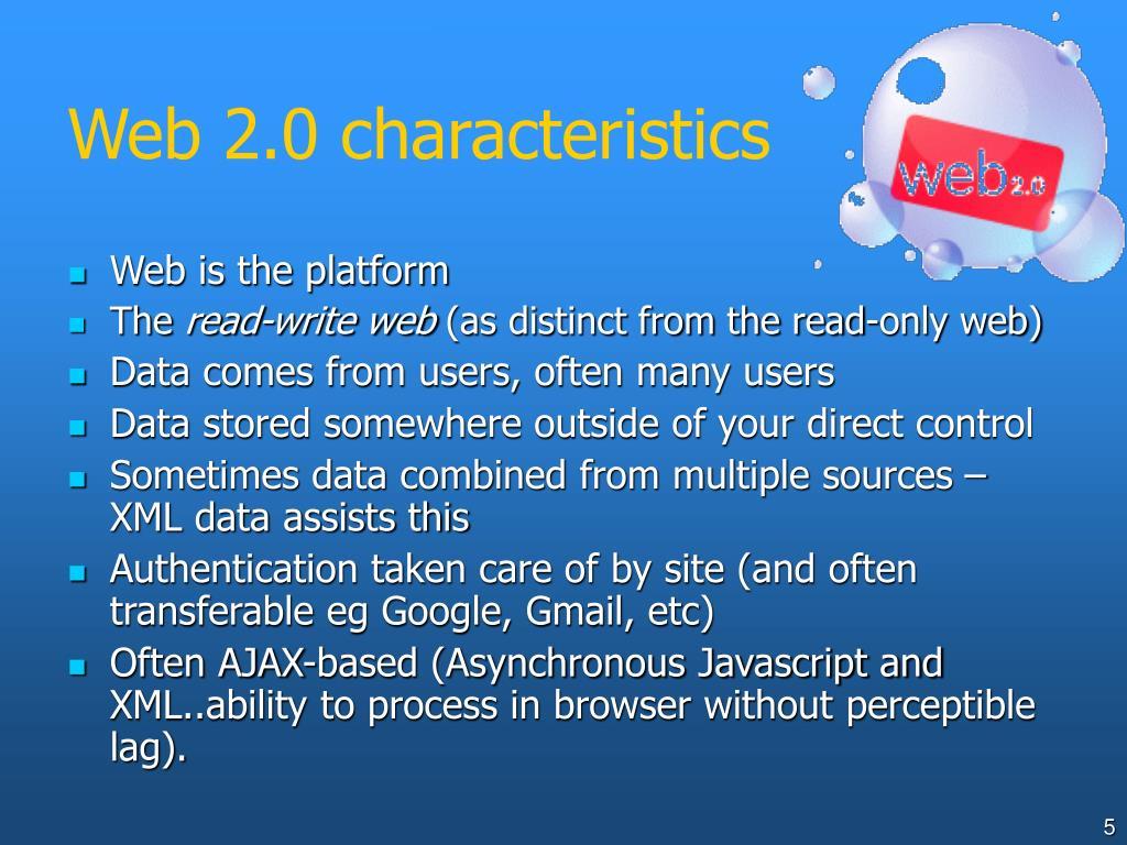 Web 2.0 characteristics