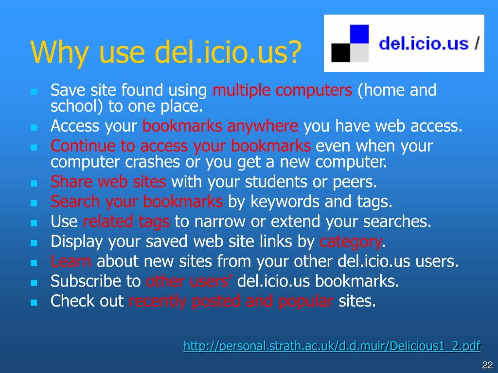Why use del.icio.us?
